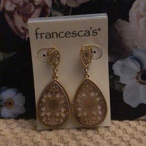 Blush gold drop earrings